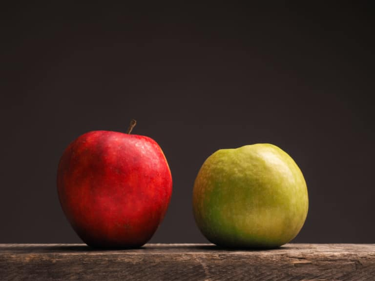 Apfel in rot und grün