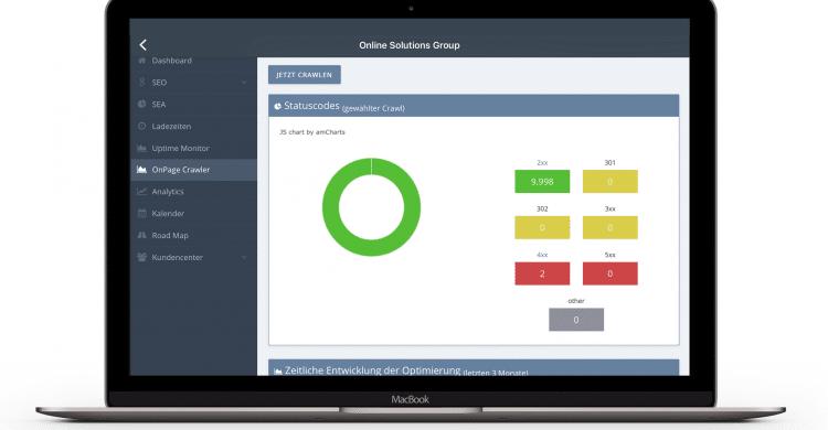 OSG Performance Suite Laptop Ansicht