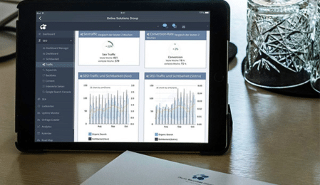 Funktionen des OSG Performance Suites in der Tablet Ansicht