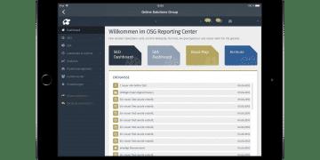 Screenshot aus der OSG Performance Suite App von der Startseite
