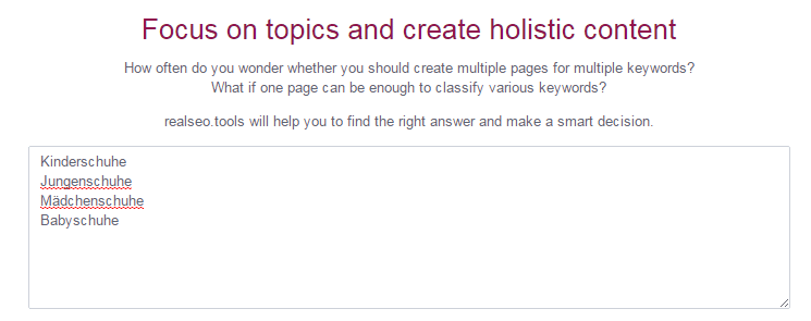 Keyword Tool im Test: Das Keywordtopics Tool - Online Solutions Group