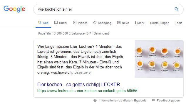 Rich Answers Google