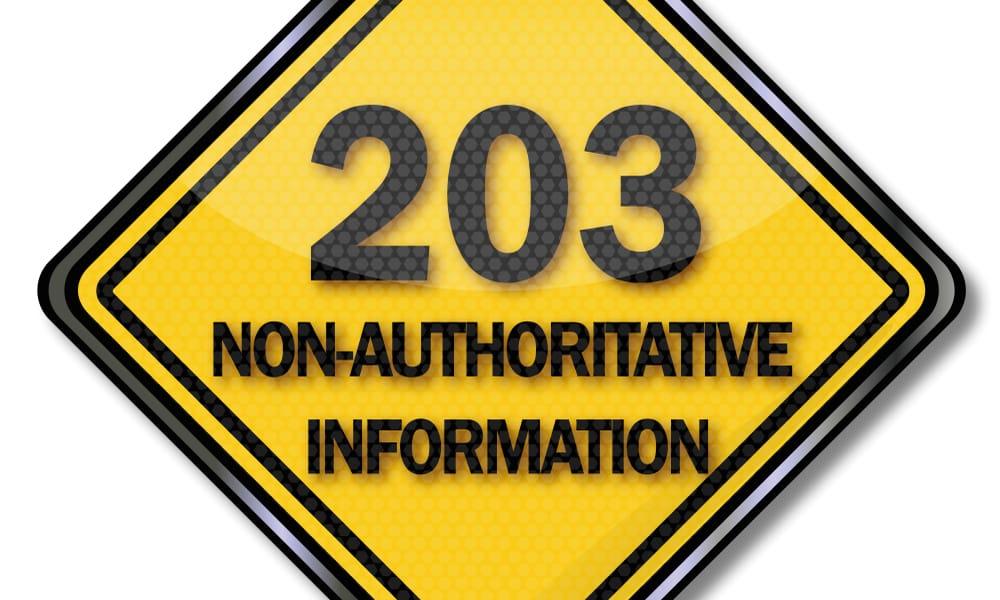 203 Non Authoritative Information