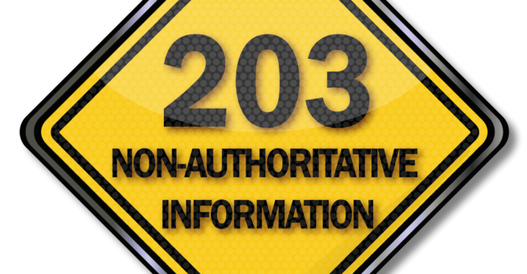 203 Non Authoritative Information