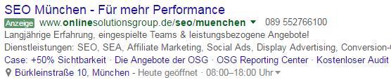 Screenshot des neuen Ad-Label (SEA Neuerungen: Januar 2017)