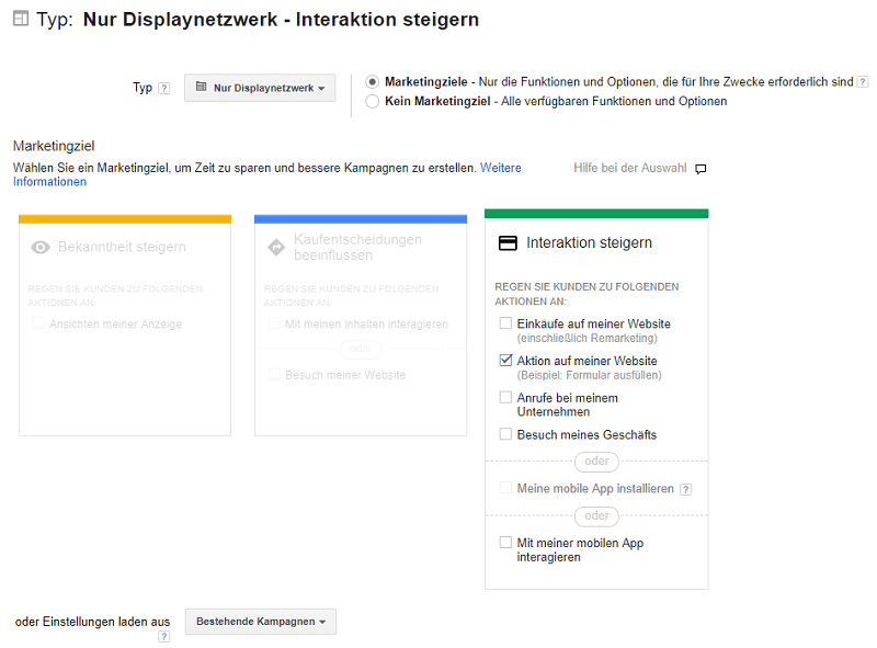 AdWords Smart Display einrichten Interaktion steigern