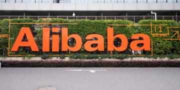 Alibaba Schriftzug an einer Straße