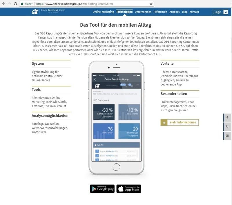 Eine passende Webseite weckt schon vor der Veröffentlichung ein Bewusstsein für die App
