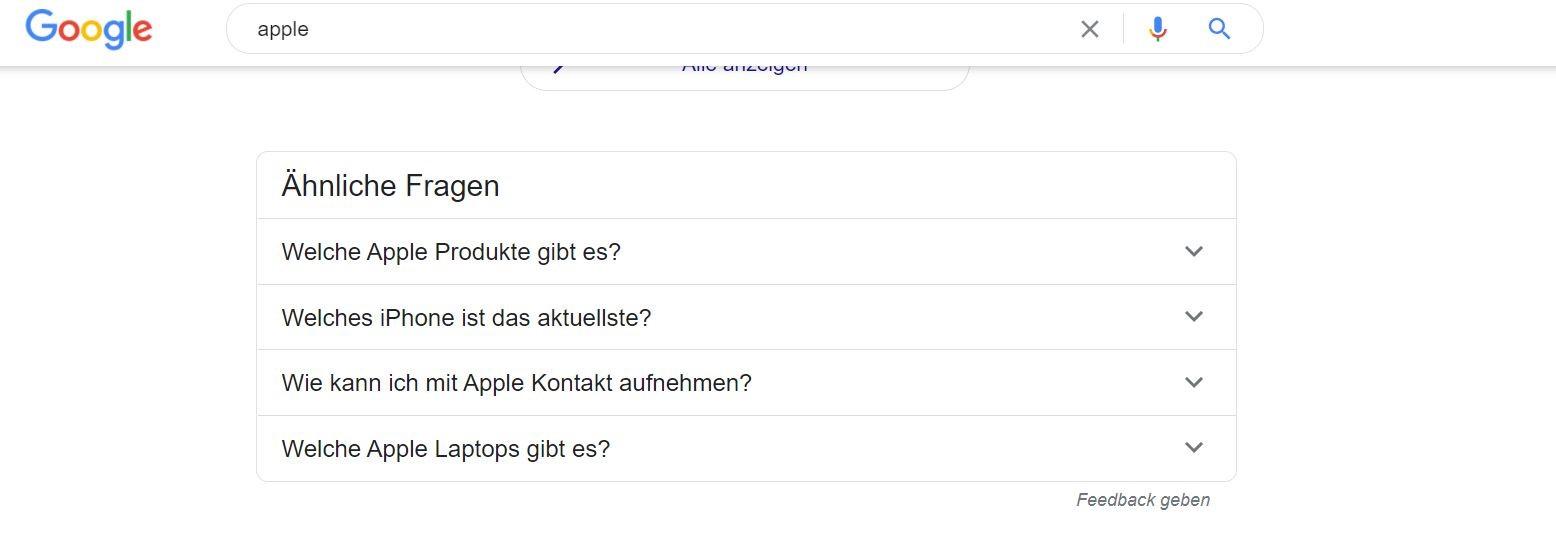 Nutzer fragten Auch Funktion Google (SEO Checkliste)
