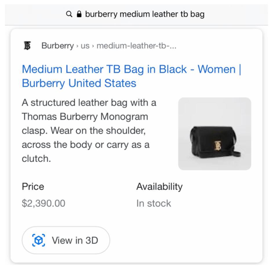 Beispiel 3D für e-Commerce Websites