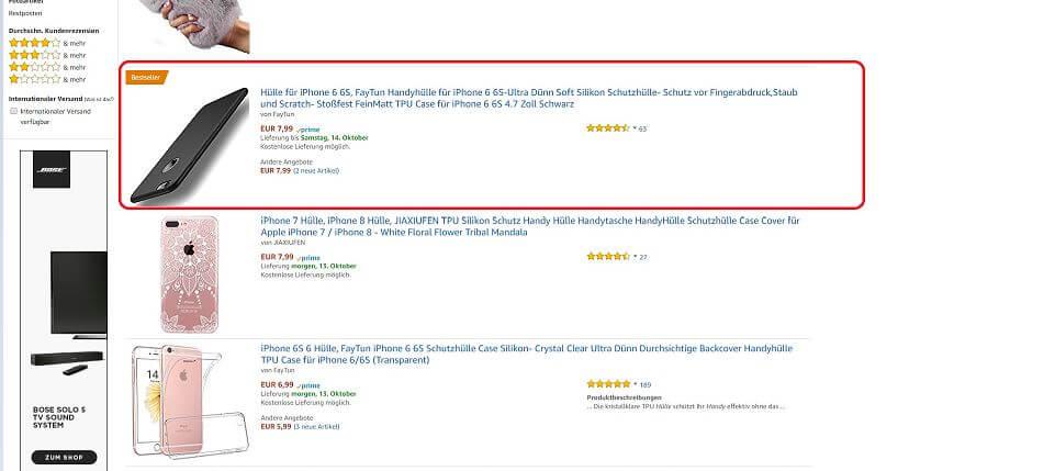 Bestseller Status Amazon.