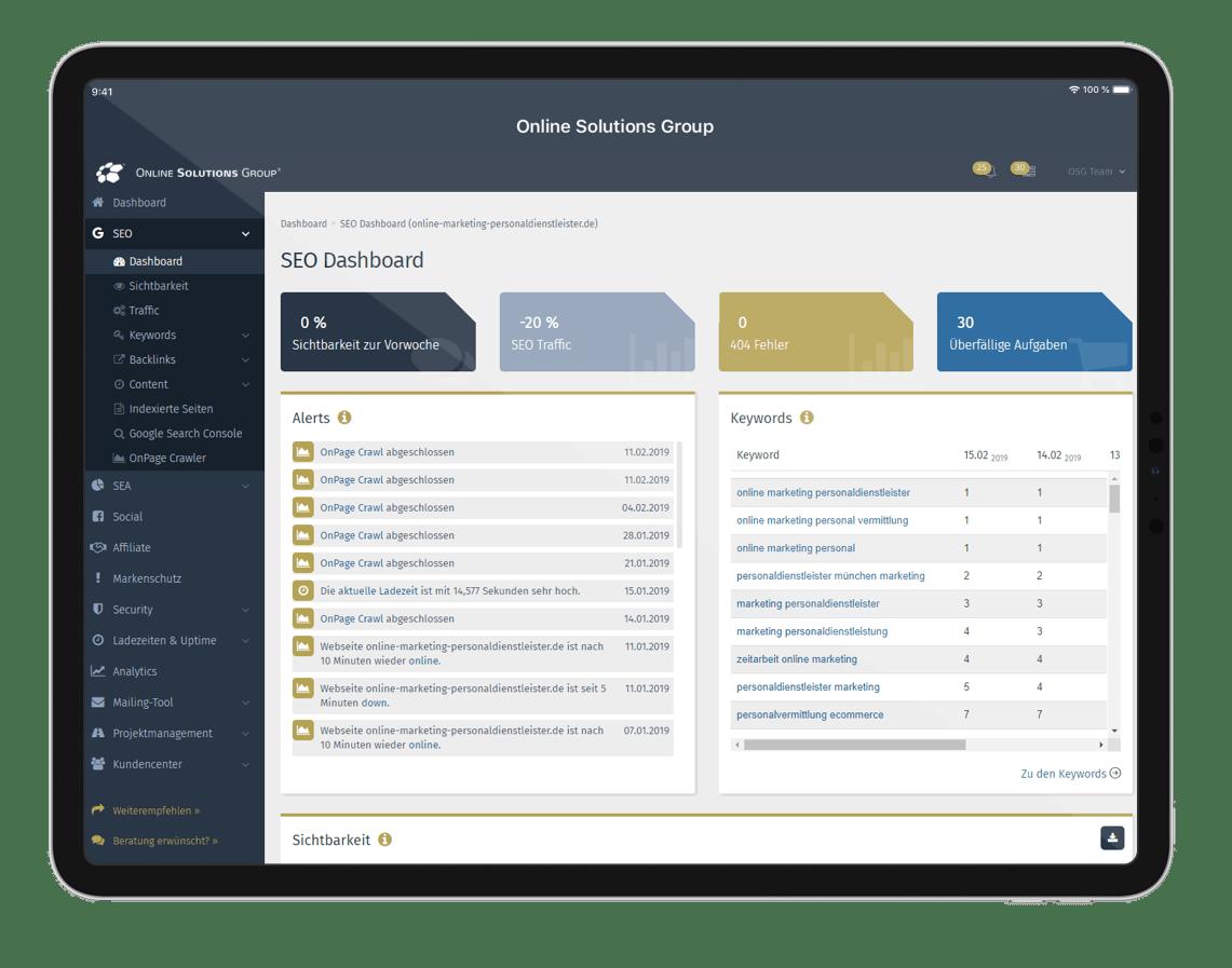 Aggregierte Informationen in Dashboards helfen dabei Probleme schnell zu erkennen und entsprechende Maßnahmen abzuleiten.