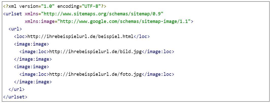 Über eine Sitemap für Bilder können Suchmaschinen alle Bilder einer Webseite schnell erfassen.