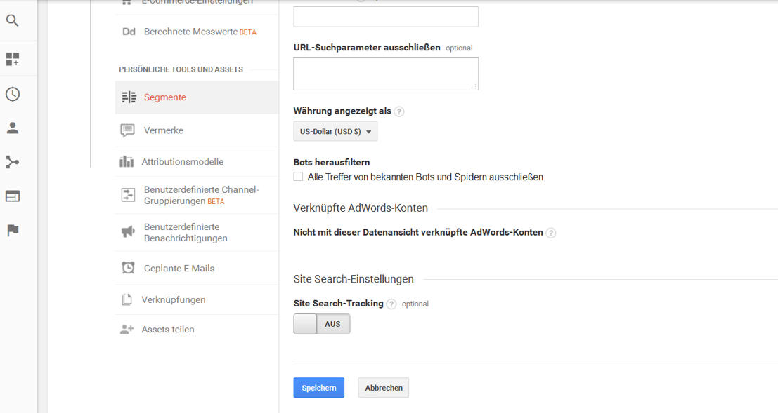 Herausfiltern von Crawler Bots in Google Analytics