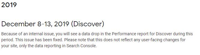 Bug Google Search Console