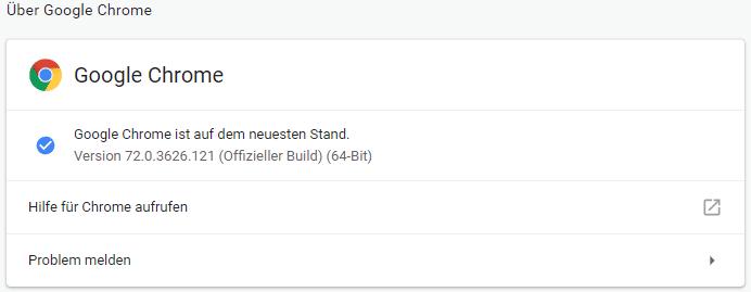 Sicherheitslücke - Update auf aktuelle Version von Chrome