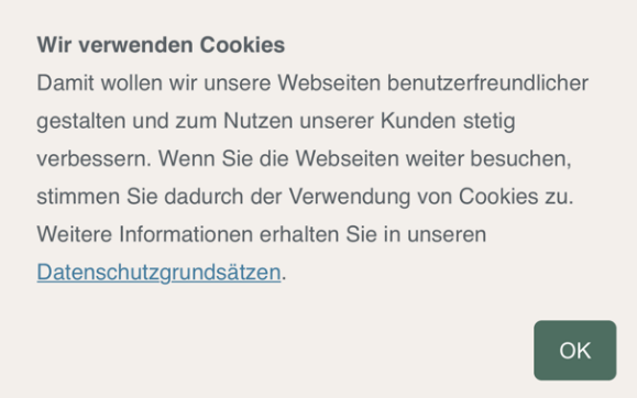 Cookie Banner KFW