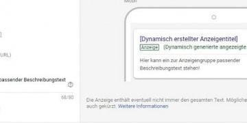 Vorschau einer Dynamic Search Ad