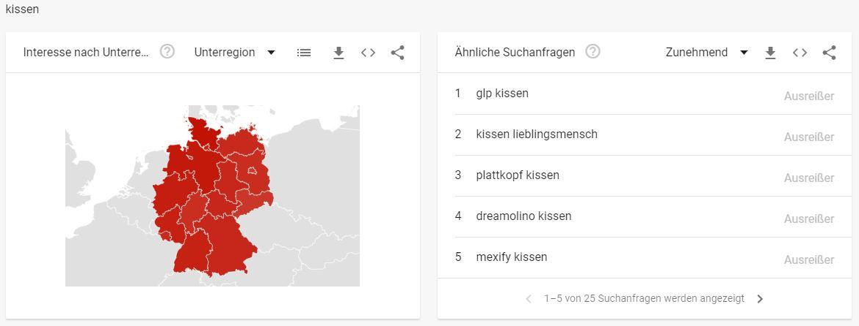 Deko-Branche Top Keywords Kissen