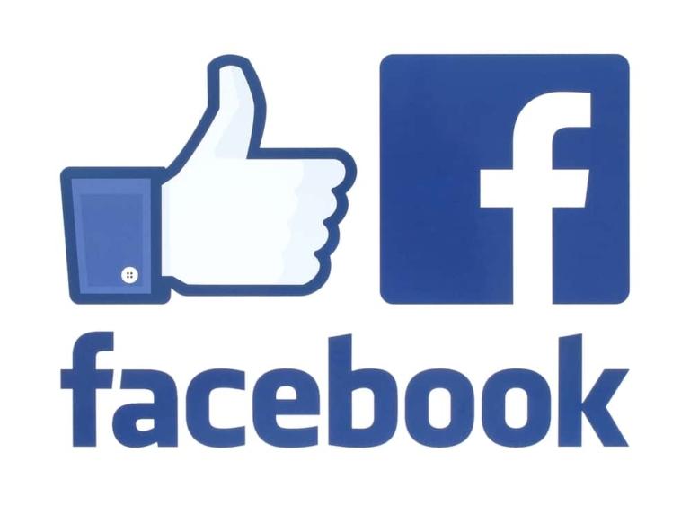 Facebook Logo und Daumen
