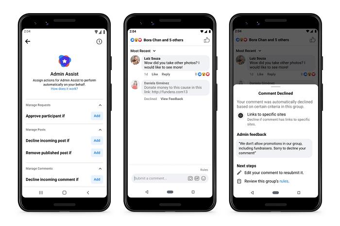 Facebook admin assist