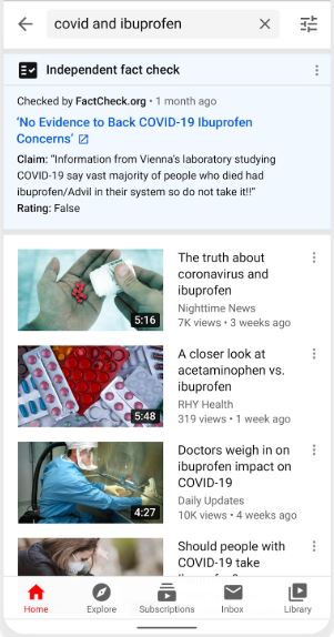 Faktencheck Youtube Beispiel