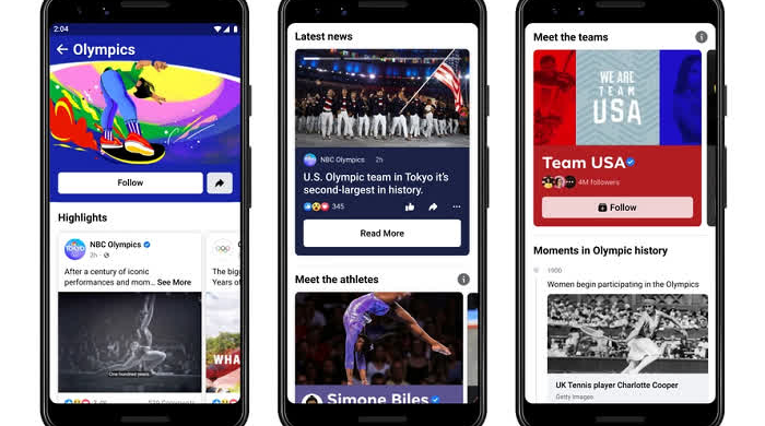 Facebook Olympics Hub