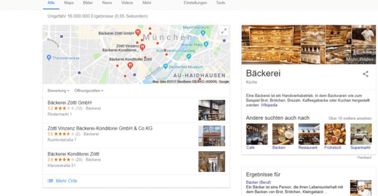Beispiel zum Geotargeting anhande der Google Suche