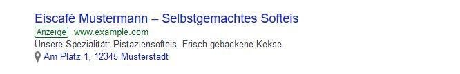 Google Ads Standorterweiterung