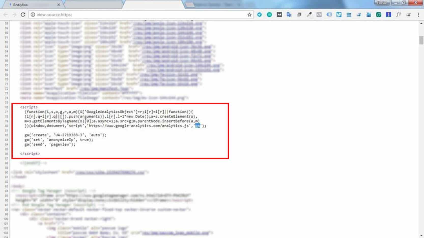 Die Einbindung des Google Analytics Tracking Codes direkt auf der Webseite erfordert gewisse Programmierkenntnisse.