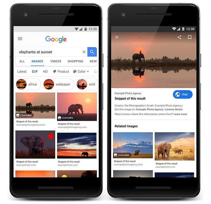 Google Bilder Lizenz