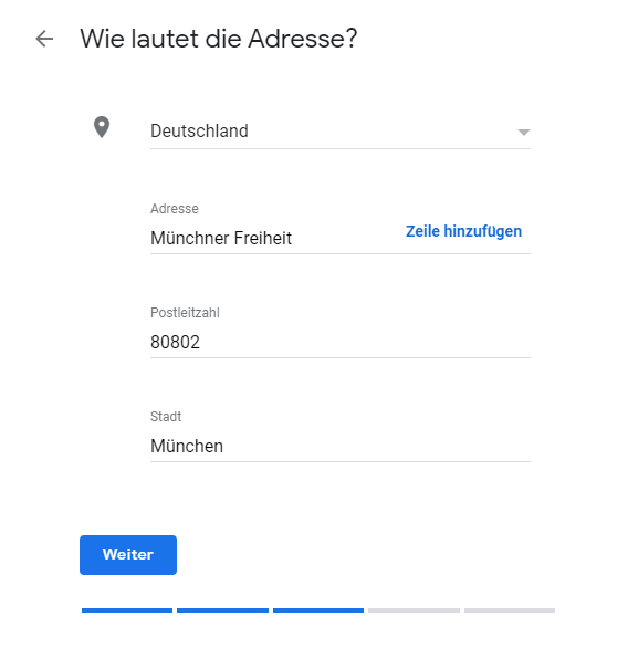 Google My Business Adresse