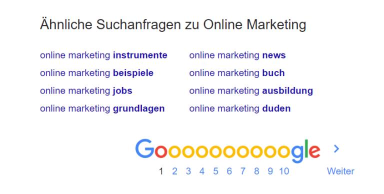 Google Screenshot ähnliche Suchbegriffe