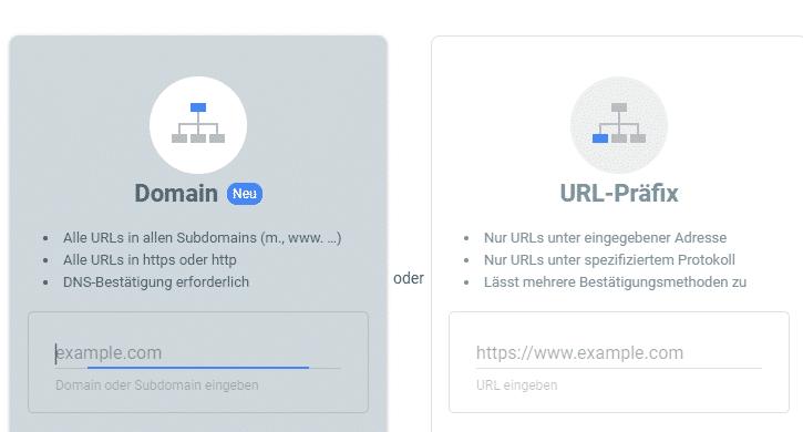 Google Search Console Statusbericht zu Rich Snippets