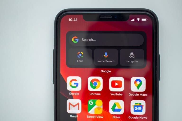 Google Search Widget auf dem iPhone verfügbar