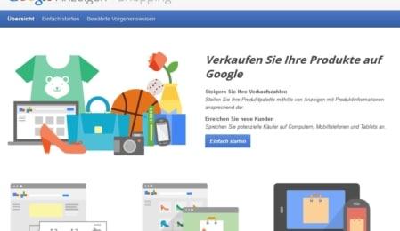 Google Shopping anmelden