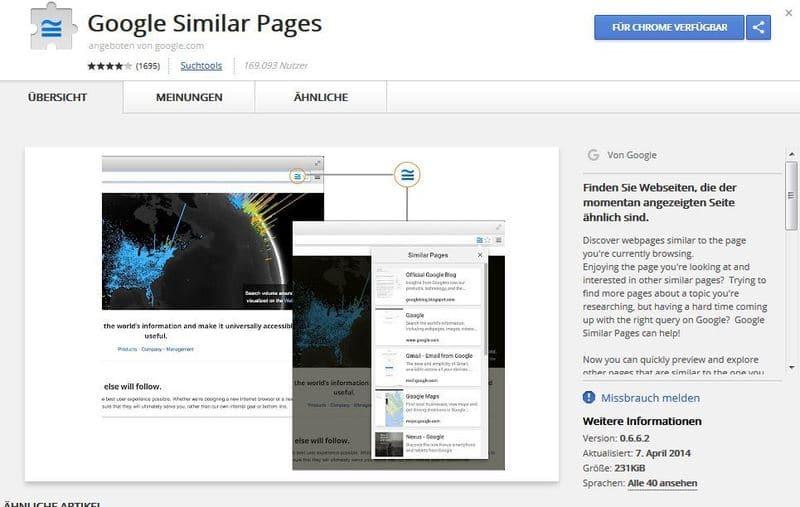 Google Similar Pages Plugin