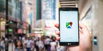 Standort Icon Google Maps in Stadt