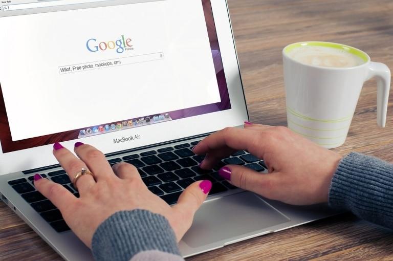 Google Startseite Apple Mac Book