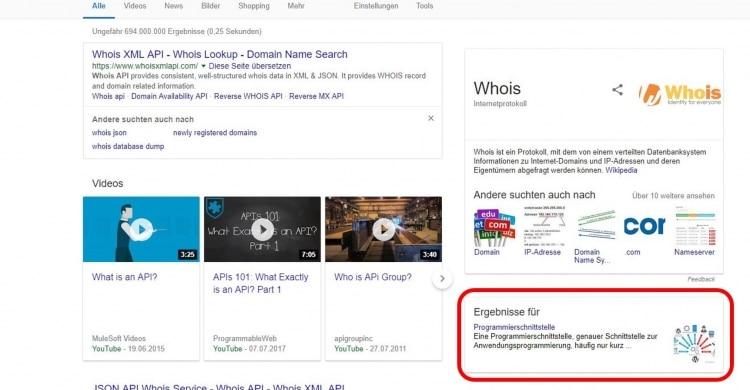 Neues Feld in den Google SERPs (Desktop)