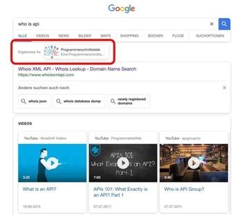 Neues Feld in den Google SERPS (mobil)