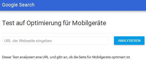 Google Test Ansicht