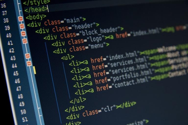 Bildausschnitt eines Computerscreens mit HTML Code