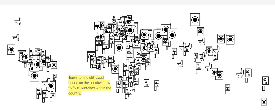 Grafik Verteilung von How-to-Anfragen weltweit