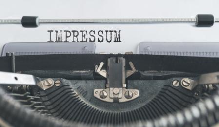 Impressum Schreibmaschine
