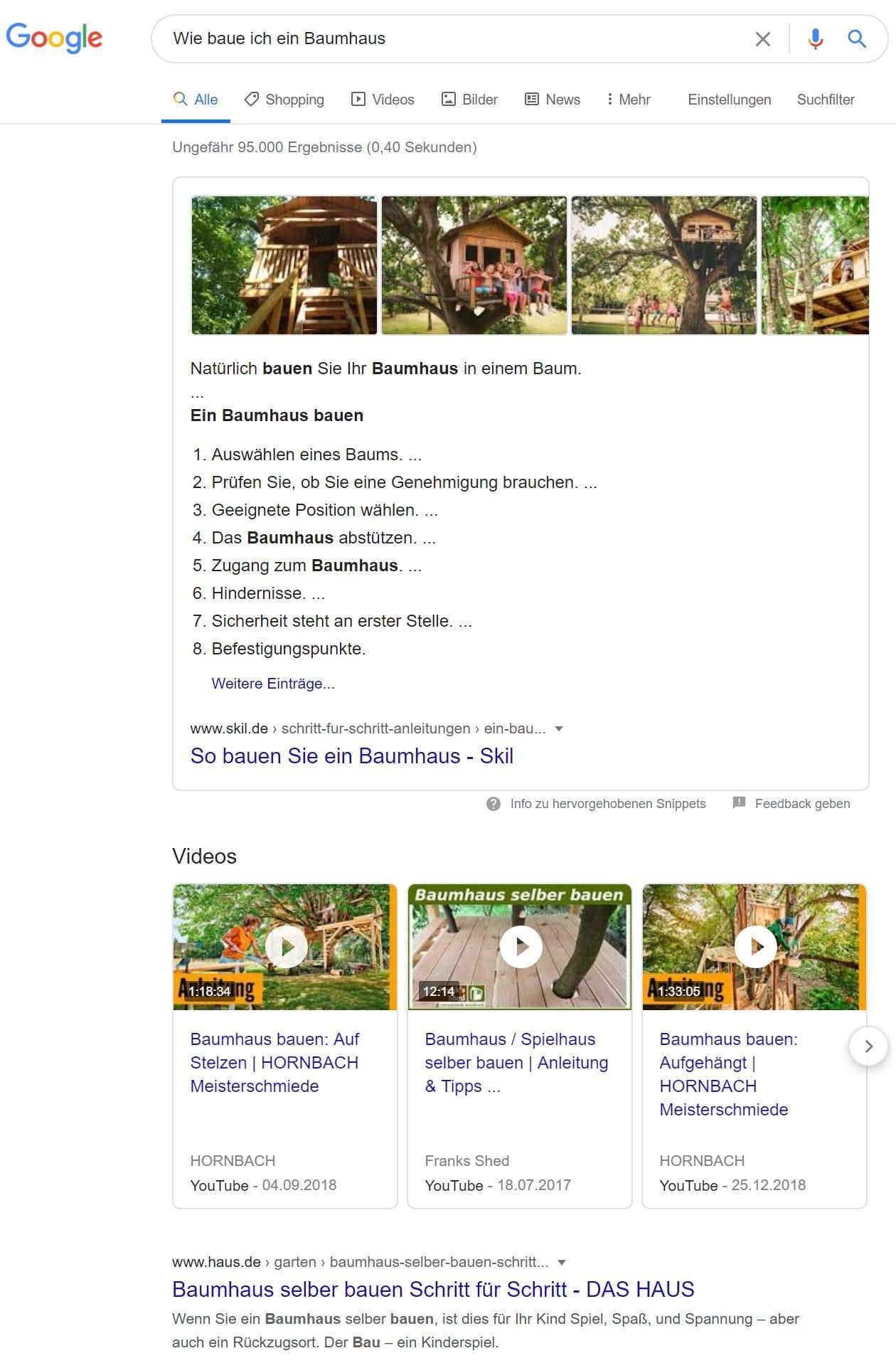 Informative-Suchanfrage Beispiel