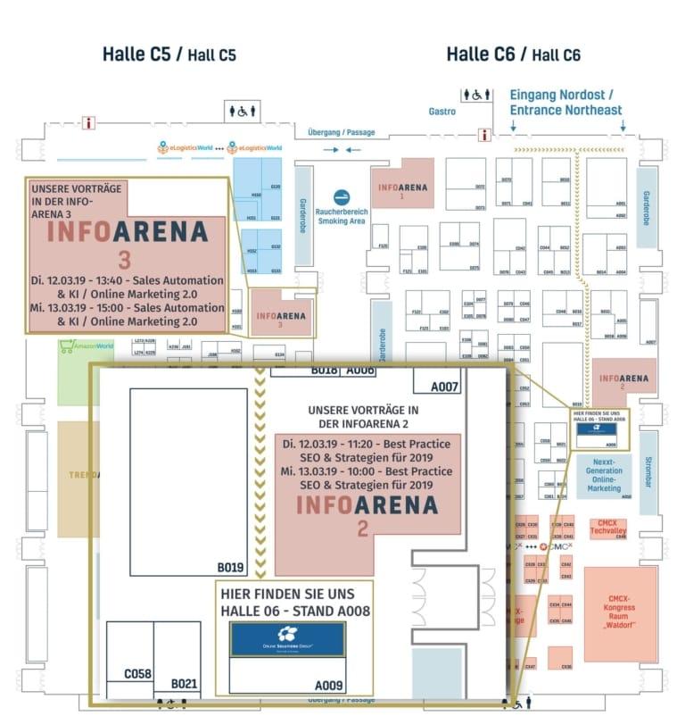 Hallenplan Internet World Messe