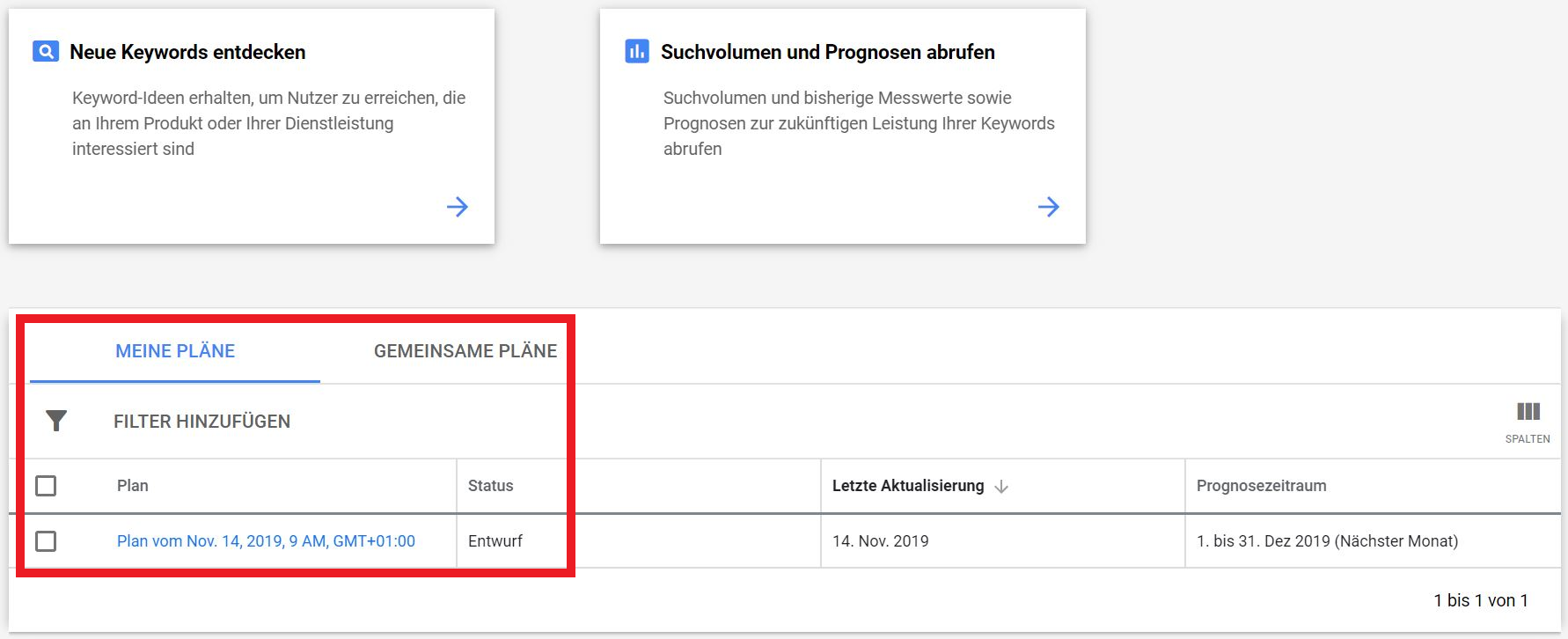 Keyword Planer bekommt ein Update