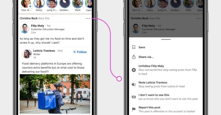 LinkedIn passt Einstellungen an Twitter, Facebook und Instagram an
