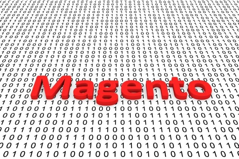 Coverbild Magento in Lettern vor Zahlencode-Hintergrund